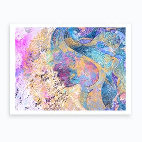Beauty of Balance  Abstract Illustration Art Print