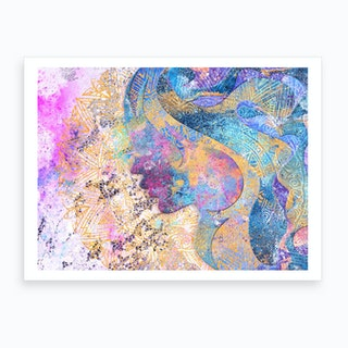 Beauty of Balance  Abstract Illustration Art Print