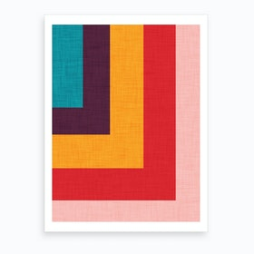 Abstract Mod Cube Art Print