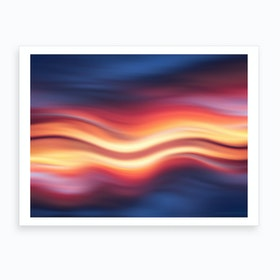 Abstract Sunset Ix Art Print