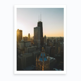 Chicago Sunset Art Print