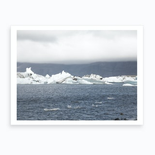 Glacier Flat Art Print