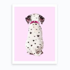 Dalmatian Hearts Art Print
