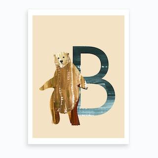 B Bear Art Print