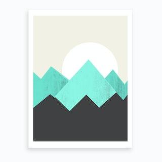 Pastel Mountains IV Art Print