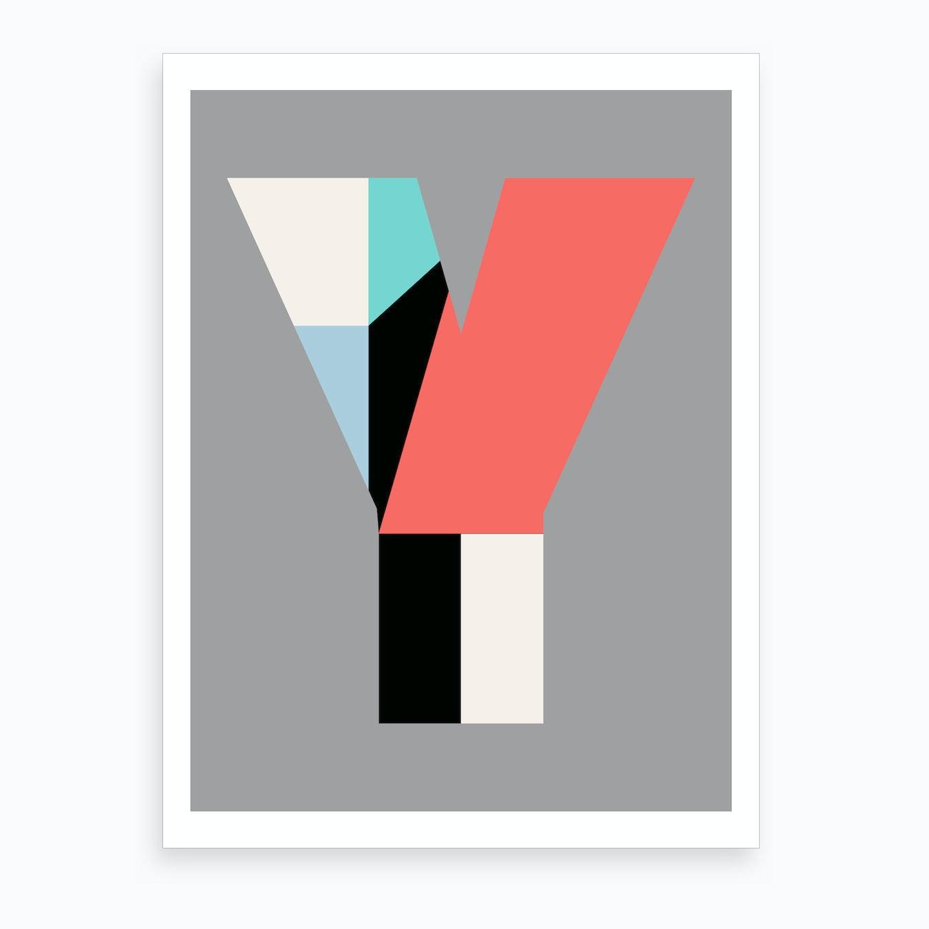 Letter Art Print.Letter Y Art Print