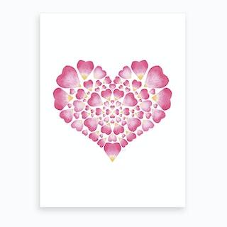 I Heart You Art 2 Art Print