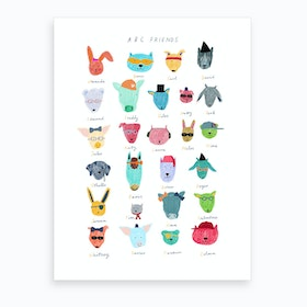 Abc Friends Art Print