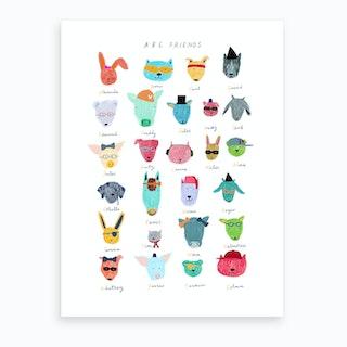 Abc Friends Art Print