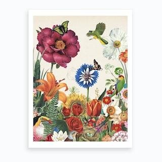 Silent Spring Garden Flowers Art Print