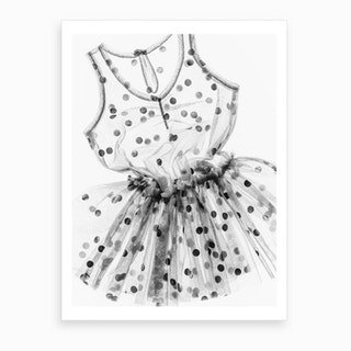 Spotty Dress Art Print