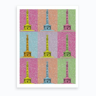 Rainbow Siegesaule Art Print