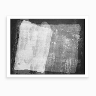 Minimal Abstract Black And White Painting 8 Art Print