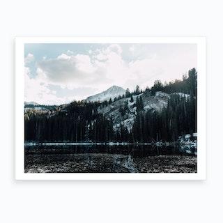 Mountains And Snow Art Print