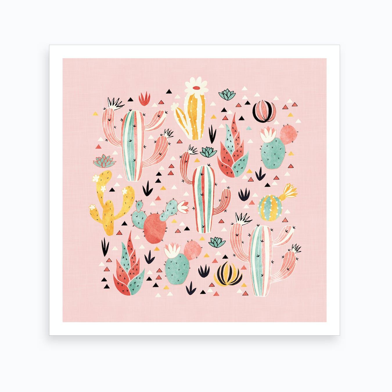 Pink Desert Art Print