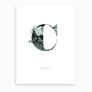 Flower Alphabet C Art Print