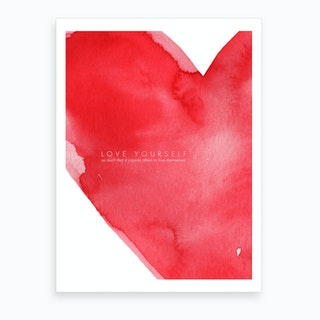 Love Yourself Art Print