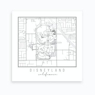 Disneyland California Street Map Art Print