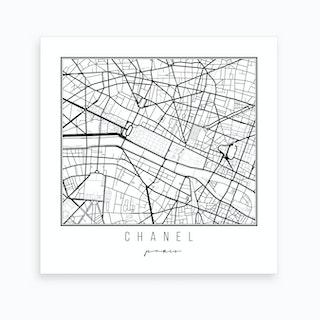 Chanel Paris Street Map Art Print