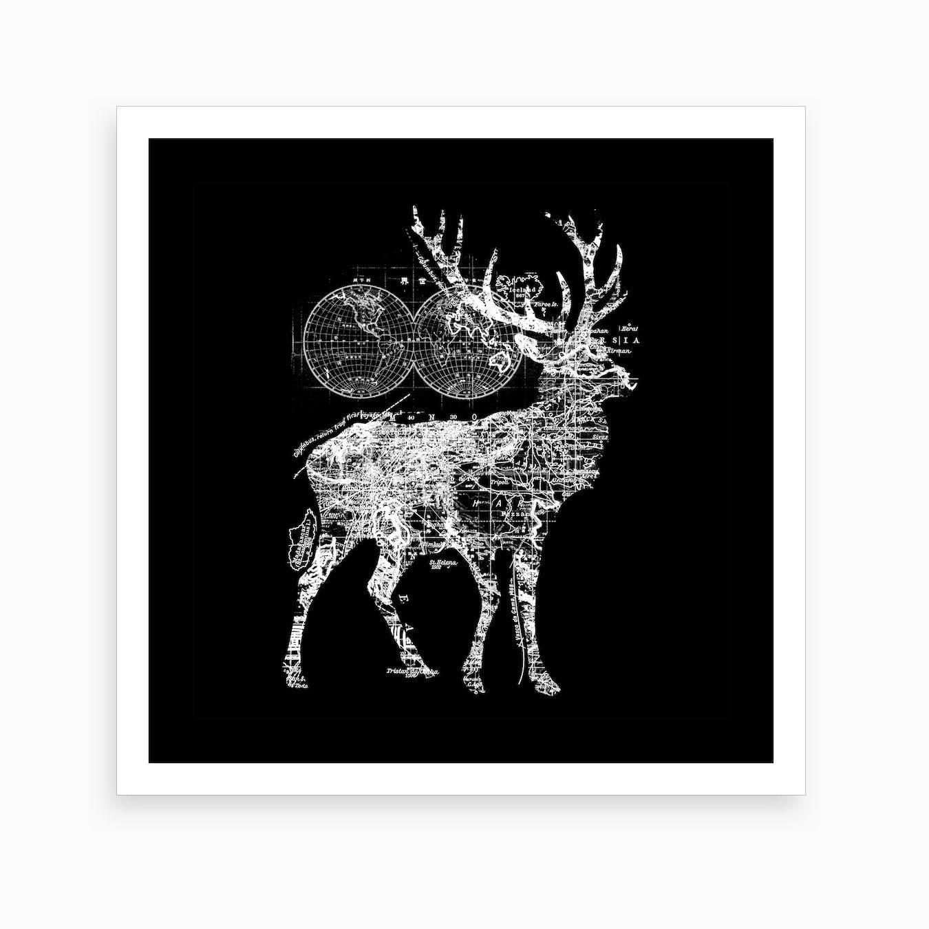 Deer Wanderlust Art Print