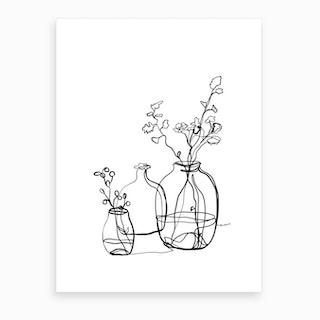 Flower Jars Art Print