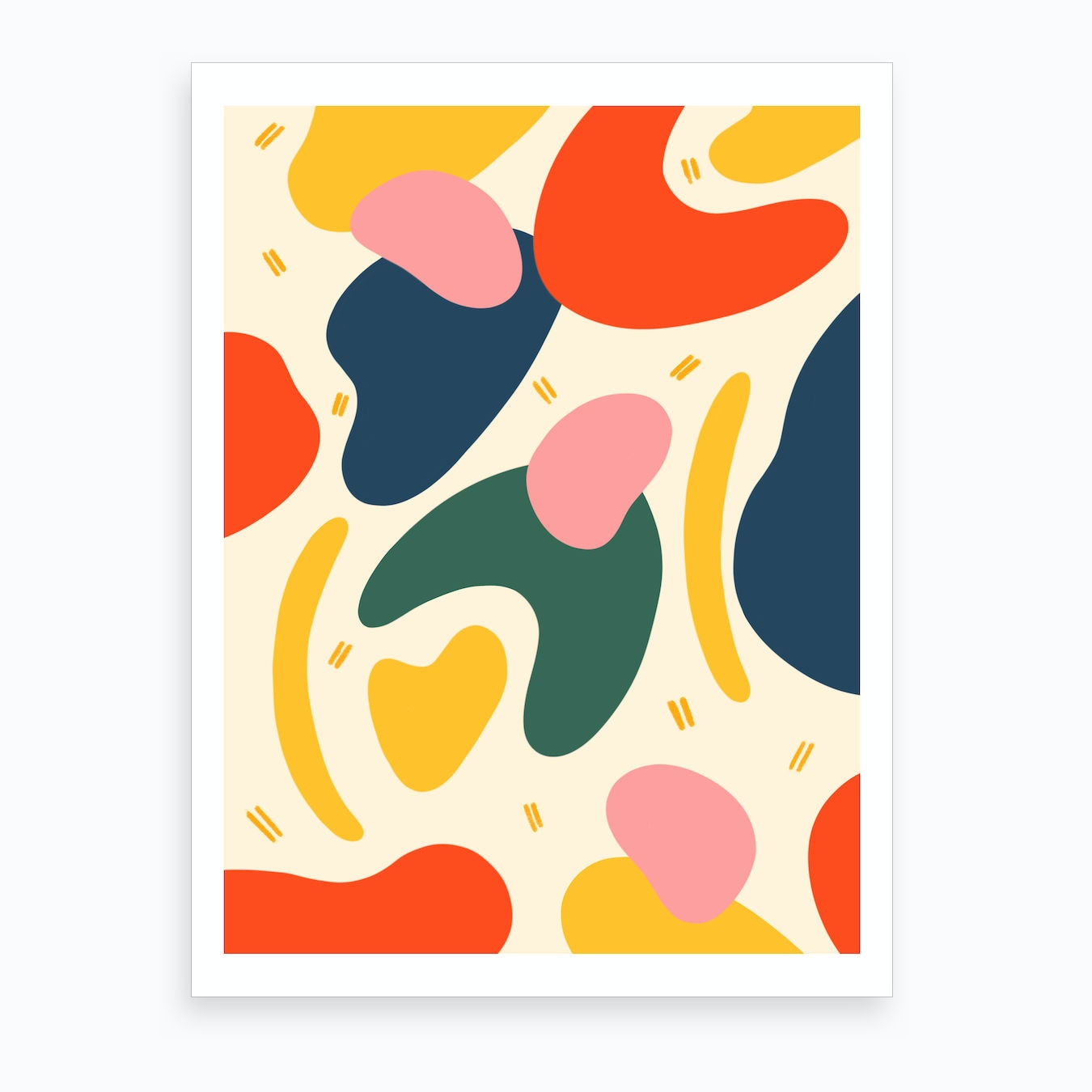 Abstract Shapes Art Print By Niamh Illustrates Fy If you have your own one, just send us the image and we will show it on the. abstract shapes art print