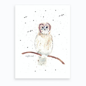 Mrs Nightowl Art Print