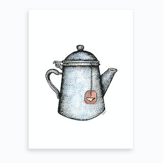 Blue Teapot  Art Print