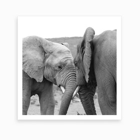 Elephant Talk Art Print