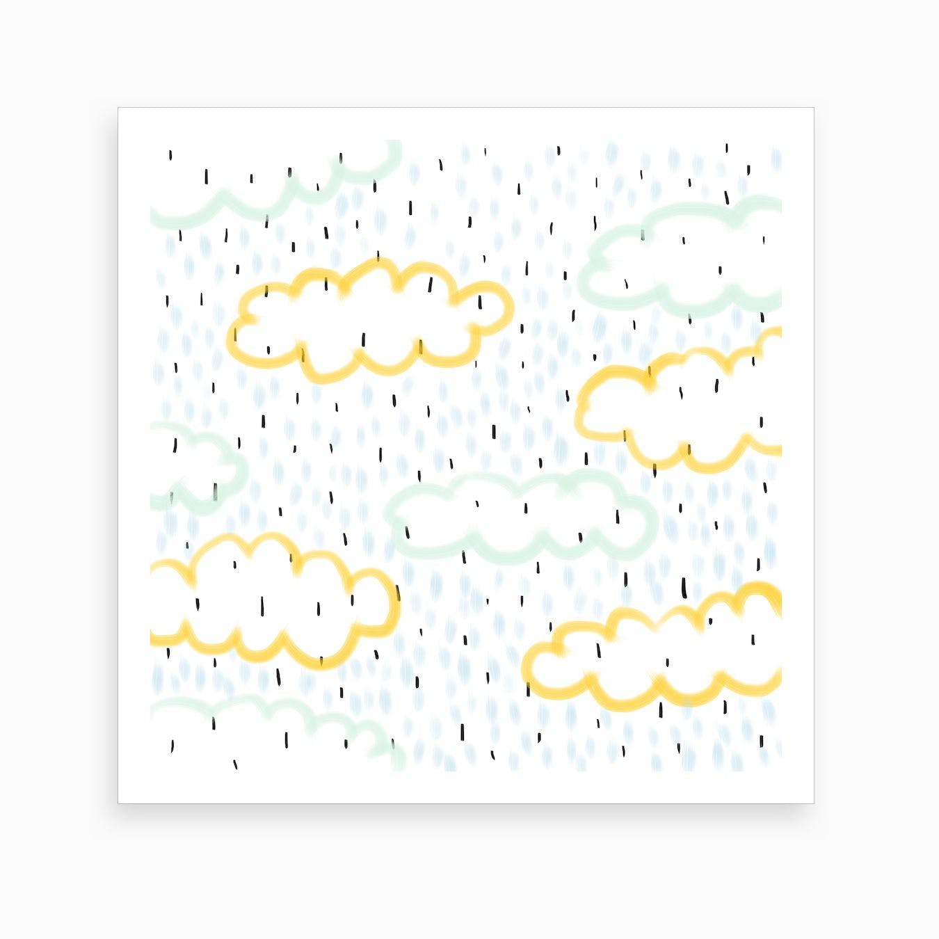 Cloudy Day X Rainy Day Art Print