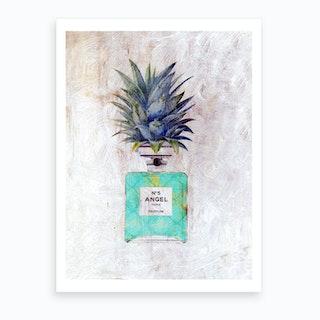 Vintage Angel Pineapple Perfume Bottle Art Print