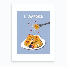 L'Amore (Blue) Art Print