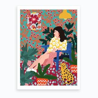 Waiting Girl Art Print