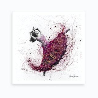 Magenta Night Dance Art Print