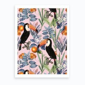 Tucan Garden Art Print