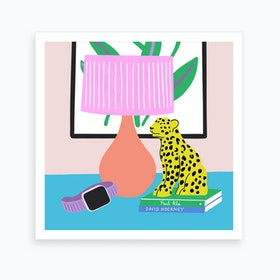 Cheetah Still Life Art Print