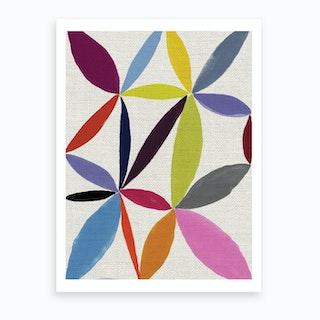 Printed Petals Art Print