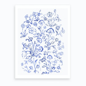 Porcelain Floral Art Print