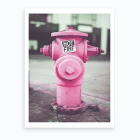 Pink Fire Hydro Art Print