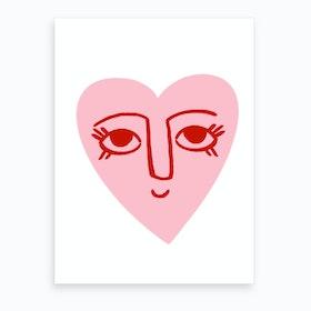 Heart Face Art Print