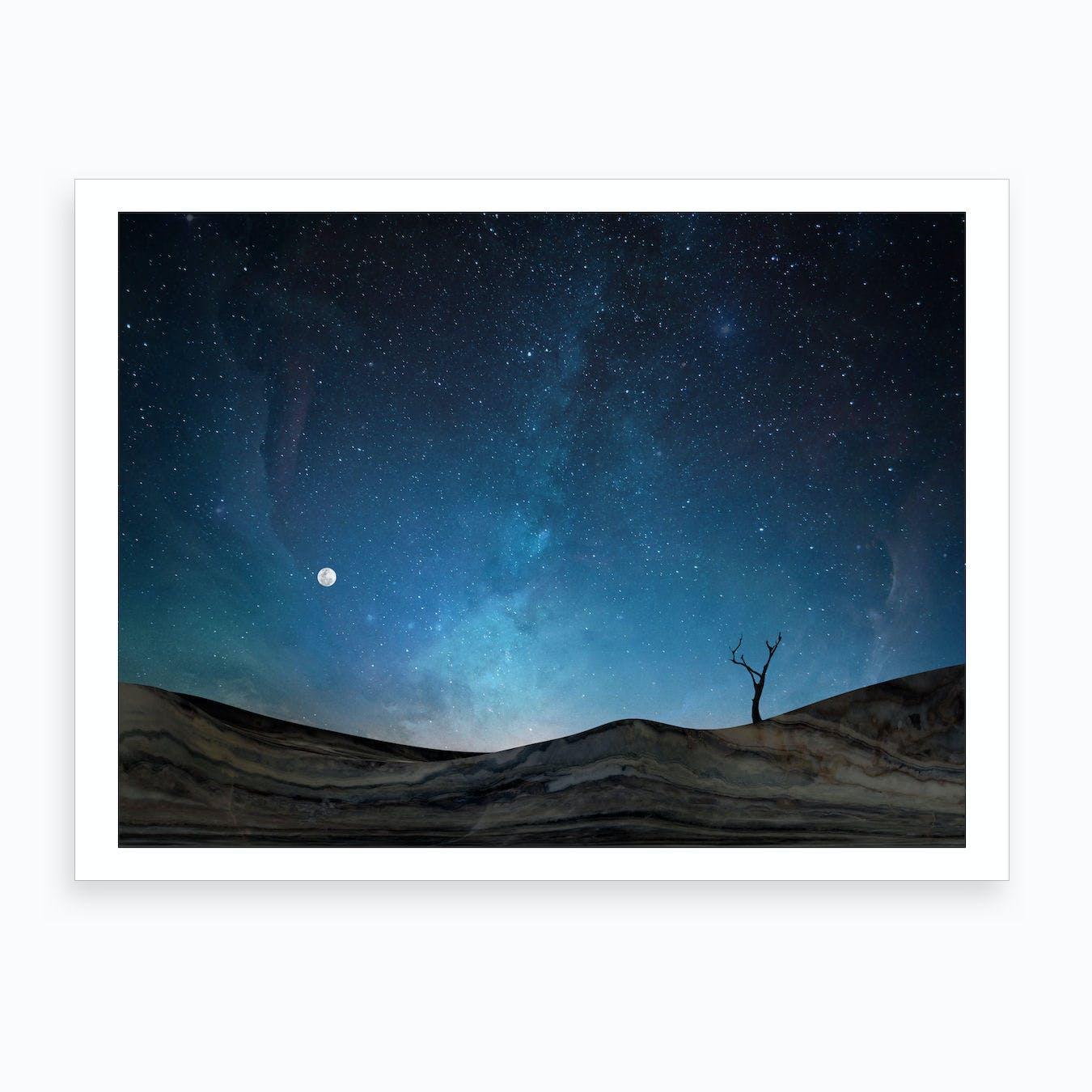 Marble Landscape X Art Print