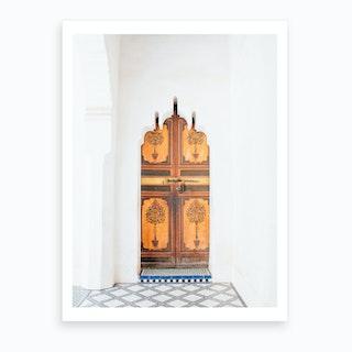 Moroccan Wood Door 2 Art Print