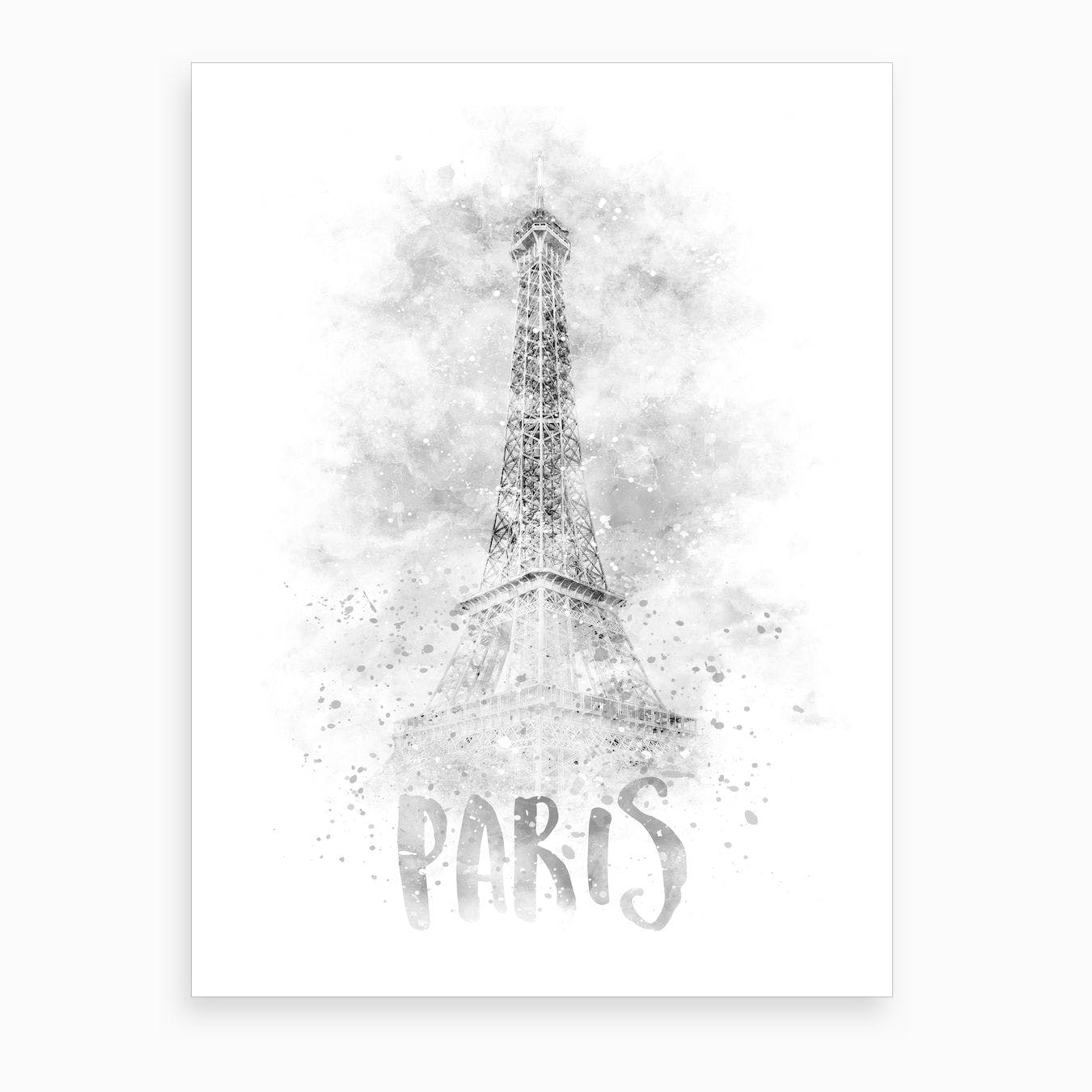 Watercolor Eiffel Tower Art Print