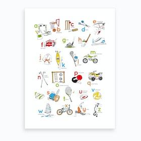 Sports Alphabet Art Print