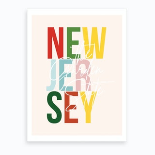 New Jersey The Garden State Color Art Print