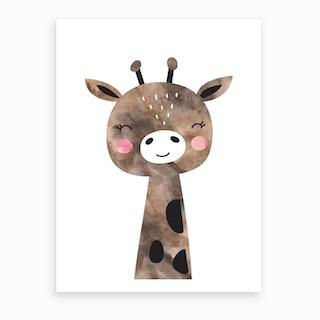 Brown Giraffe Art Print