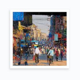 Busy Streets Art Print