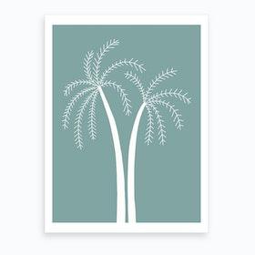 Palm Tree At Day Art Print
