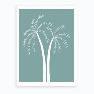 Palm Tree At Day Art Print