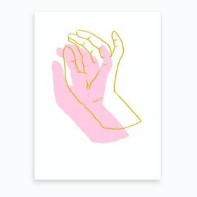Delicate Hands L Art Print
